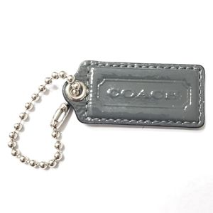 "Coach Tag Grey Patent. 2"" x 1"""